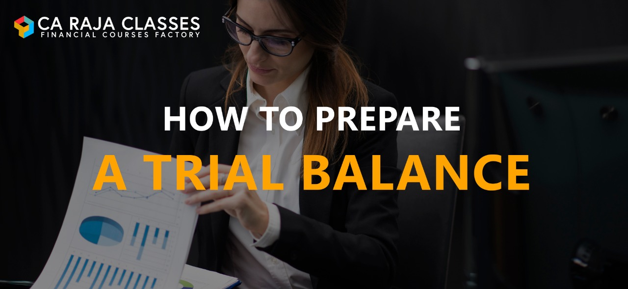 How to Prepare a Trial Balance cover