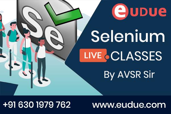 Selenium Online Live Classes cover