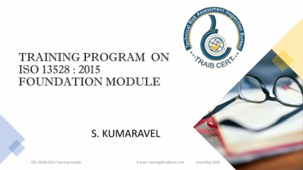 ISO 13528:2015 Foundation Training cover