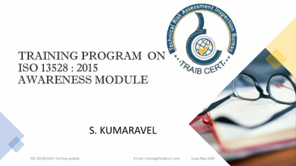ISO 13528:2015 Awareness Training cover