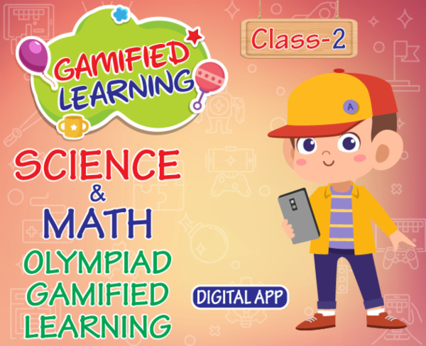 Class 2 mathematics & olympiads gamified learning app - Digital cover