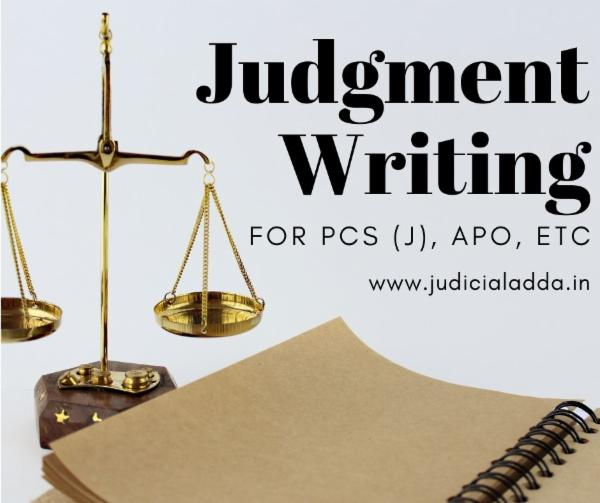 Judgment Writing cover