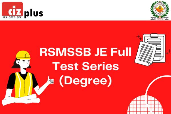 RSMSSB JE Full Test Series (Degree) cover