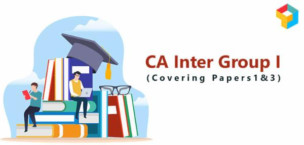 CA Inter Group I ( Covering Papers 1 & 3 ) cover