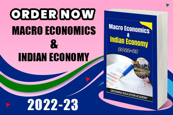 Macro Economics & Indian Economy Book : Class 12 cover