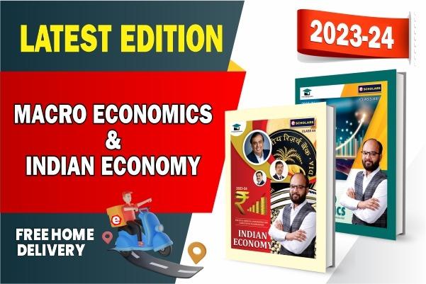 Macro Economics & Indian Economy Book : Class 12 cover