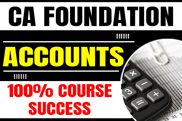 Accounts : CA Foundation cover