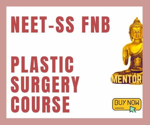 NEET-SS FNB Plastic Reconstructive Surgery exam course cover