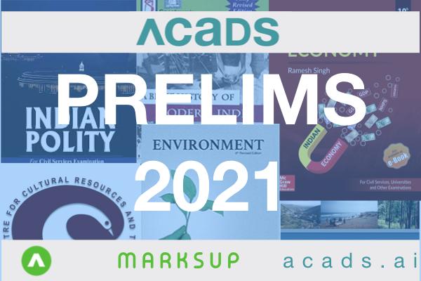 Acads UPSC Prelims Combo 2021 cover