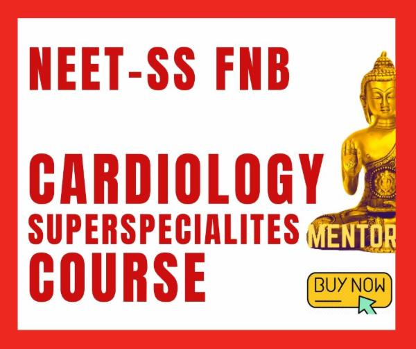NEET-SS FNB CARDIOLOGY exam course cover