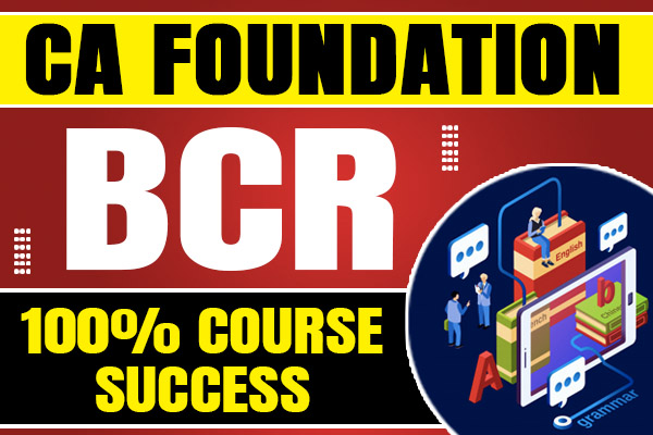 BCR : CA Foundation cover