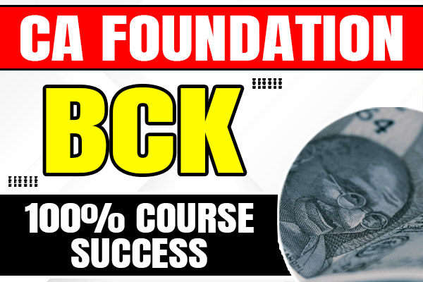 BCK : CA Foundation cover