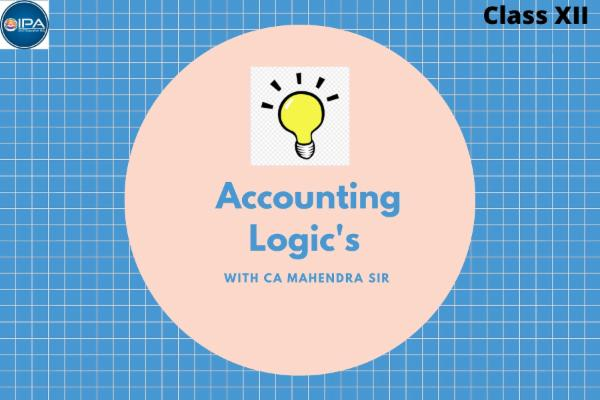 Class XII - Logic's of Accountancy cover