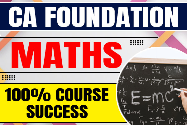 Maths : CA Foundation cover