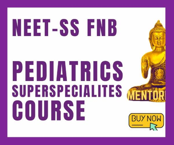 NEET-SS FNB Paediatrics Superspecialities MCQ Exam simulation course cover