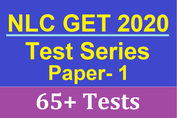NLC GET 2020 Online Test Series Non Technical | Best Mock Test Series for NLC GET 2020 cover