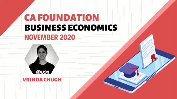 CA Foundation Business Economics Nov 2020 | Mobile App cover
