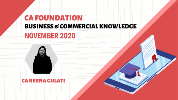 CA Foundation Business & Commercial Knowledge for Nov 2020 | Mobile App cover