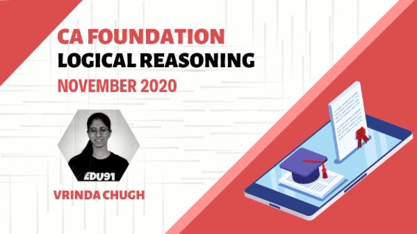 CA Foundation Logical Reasoning Nov 2020 | Mobile App cover
