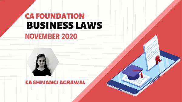 CA Foundation Business Laws for Nov 2020 | Mobile App cover