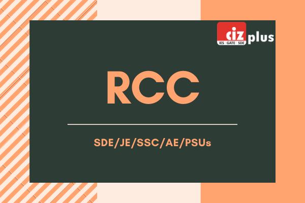RCC - SDE/JE/SSC/AE/PSUs cover