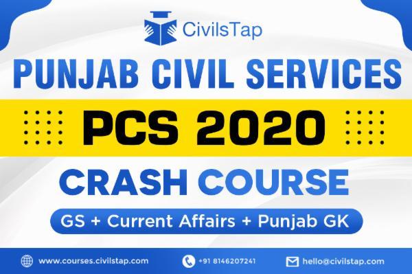 Punjab Civil Services (PCS) 2020 - Crash Course - GS + Current Affairs + CSAT cover