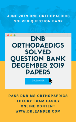 December 2019 DNB Orthopaedics Theory exam solved papers cover