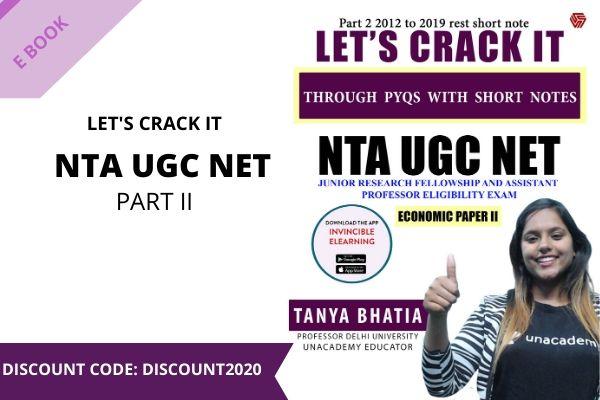 NTA UGC NET - PART II - TANYA BHATIA cover