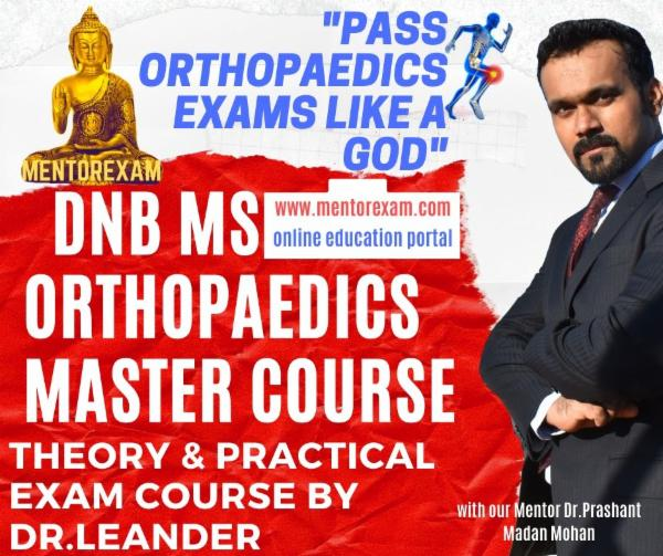 Orthopaedic Master Course Theory & Practical DNB MS classes cover