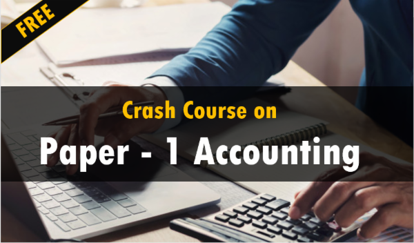 Crash Course on Paper - 1 Accounting cover