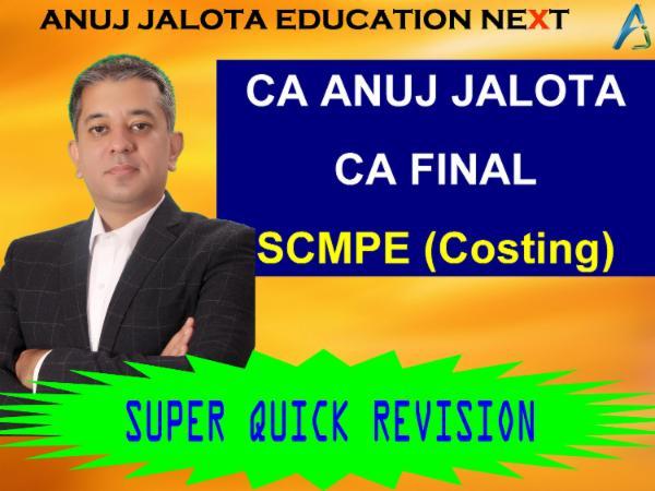 CA FINAL - SCMPE - REVISION cover