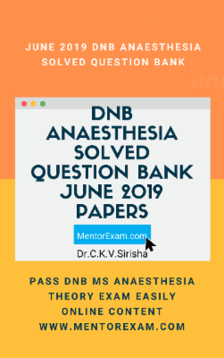Anaesthesia DNB MD June 2019 Theory Question Answers solved question bank cover
