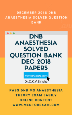 DNB ANAESTHESIA December 2018 DNB THEORY Solved question papers cover