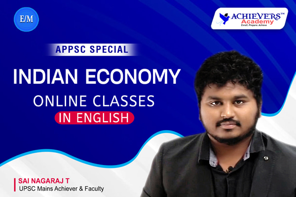 APPSC Indian Economy Classes in English cover
