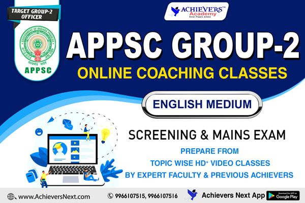 APPSC Group 2 Online Classes in English cover