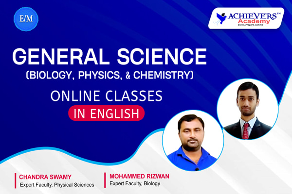 General Science Online Classes in English | Physics, Chemistry & Biology cover