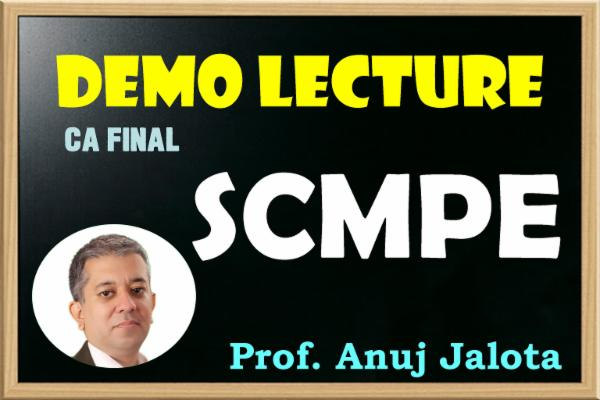CA FINAL - SCMPE - SAMPLE LECTURES cover