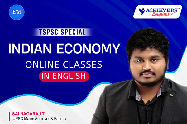 TSPSC Indian Economy Classes in English cover