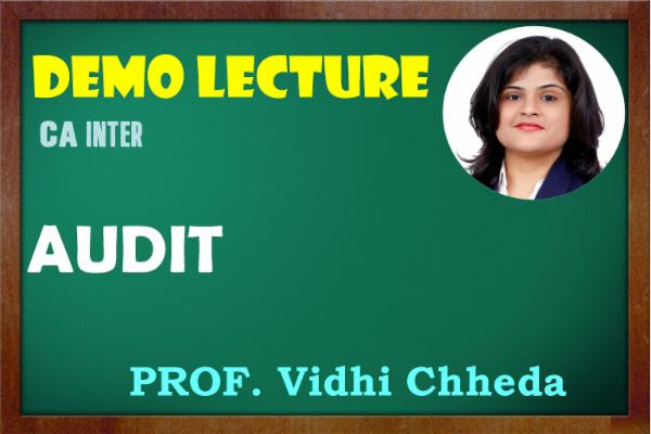 CA INTER - AUDIT - SAMPLE LECTURES cover