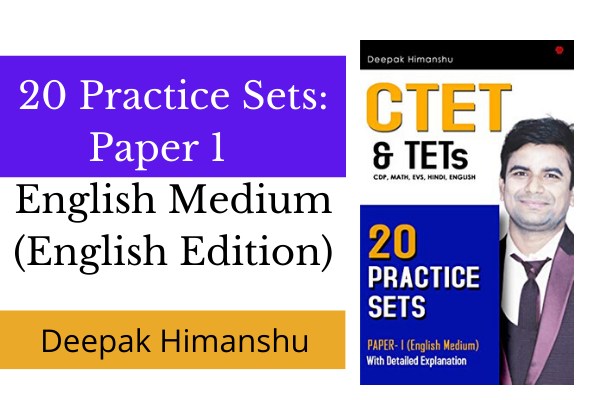 CTET & TETs- 20 Practice Sets: Paper 1 - English Medium (English Edition) cover