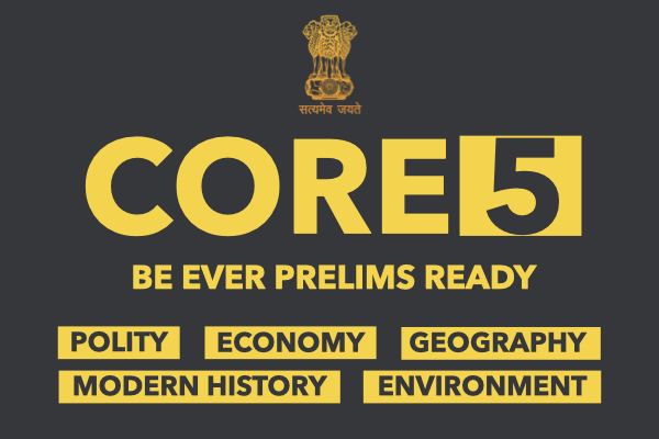 CORE5 UPSC Prelims 2020 cover
