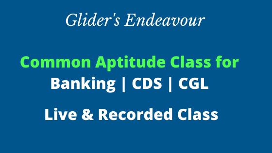 Common Aptitude Class for Banking | CDS | CGL cover
