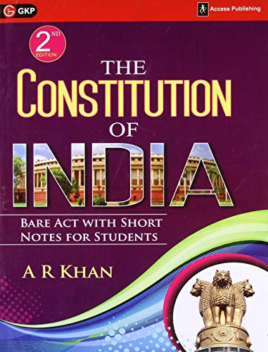 The Constitution of India Bare Act with Short Notes for Students 2ed cover