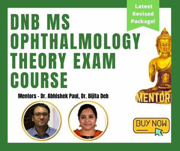 Ophthalmology DNB MS Theory Exam Course cover