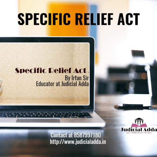 Specific Relief Act, 1963 cover