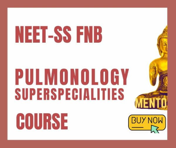 NEET-SS FNB Pulmonary Medicine Pulmonology respiratory Superspecialities mcq exam course cover