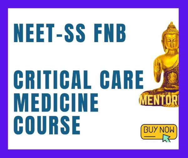 NEET-SS FNB Critical care medicine Superspecialities mcq exam course cover