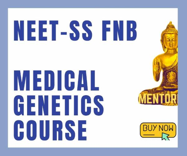 NEET-SS FNB Medical genetics Superspecialities mcq exam course cover