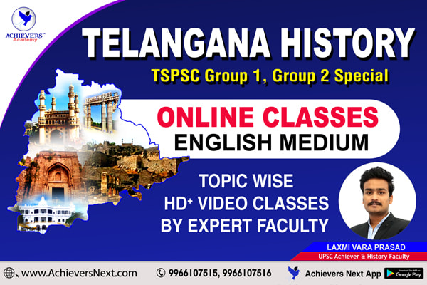 Telangana History Online Classes in English cover
