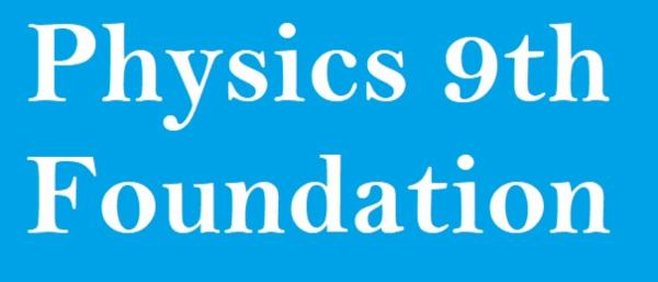 Physics Foundation Course-9th cover